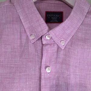 UNTUCKit Linen Short Sleeved Shirt Medium